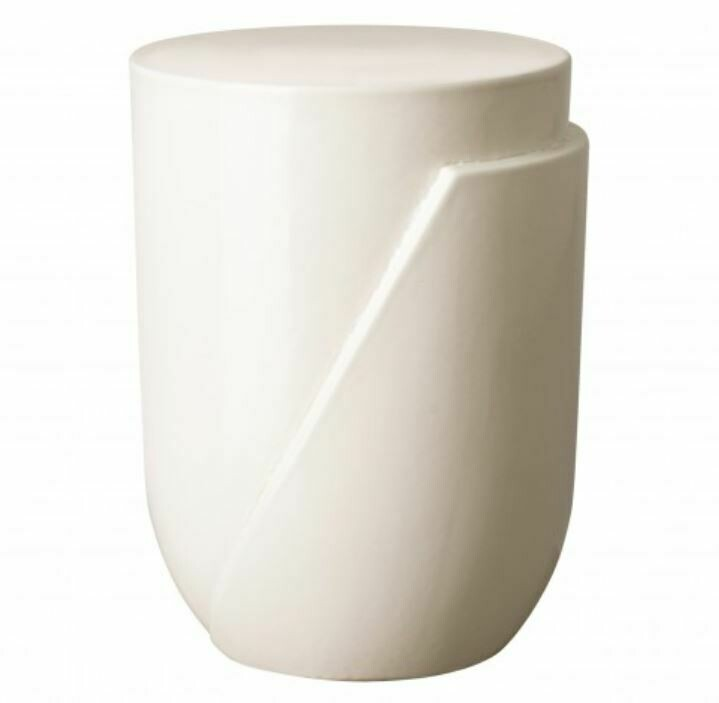 Ace Stool White Ceramic