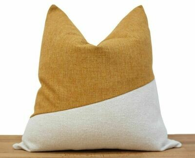 Sequence Pillow - Saffron + White 19