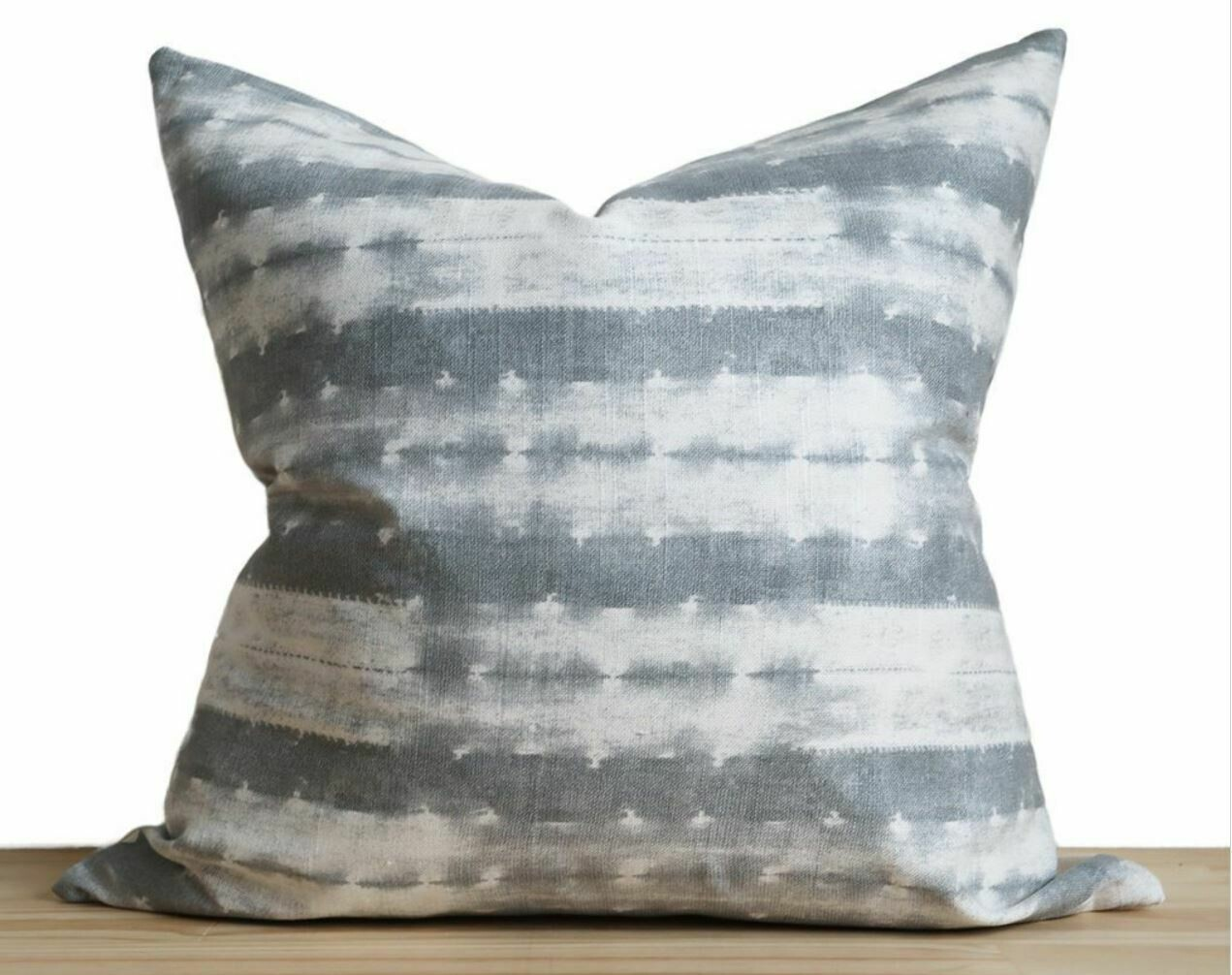 "CB013 Ash Blue Shibori 23"" Pillow"