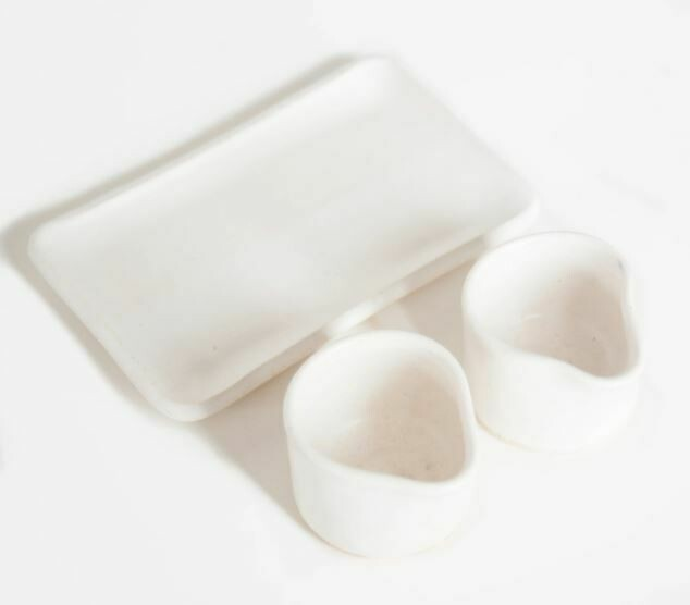 Salt + Pepper Cellar Set - White