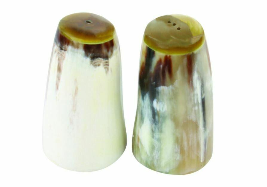 BH034 Large Horn Salt and Pepper Set