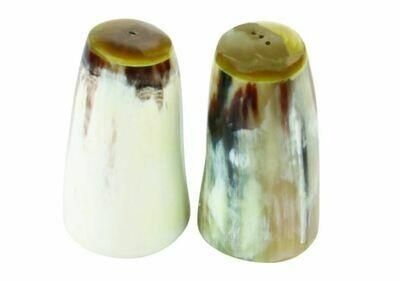Large Horn Salt and Pepper Set