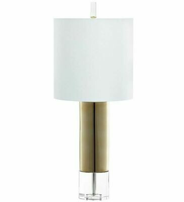 Gold and Acrylic Lamp