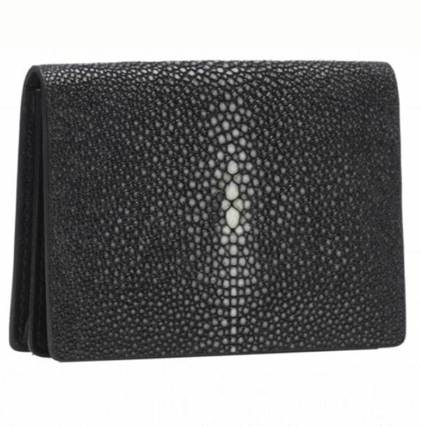 VO034 Black shagreen Card Case