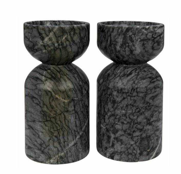 NR010 Sunset Candle Holder Black Marble