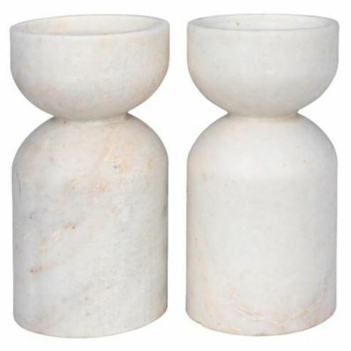 Sunset Candle Holder White Marble