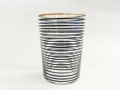 Drinking Glass - Striped - Black