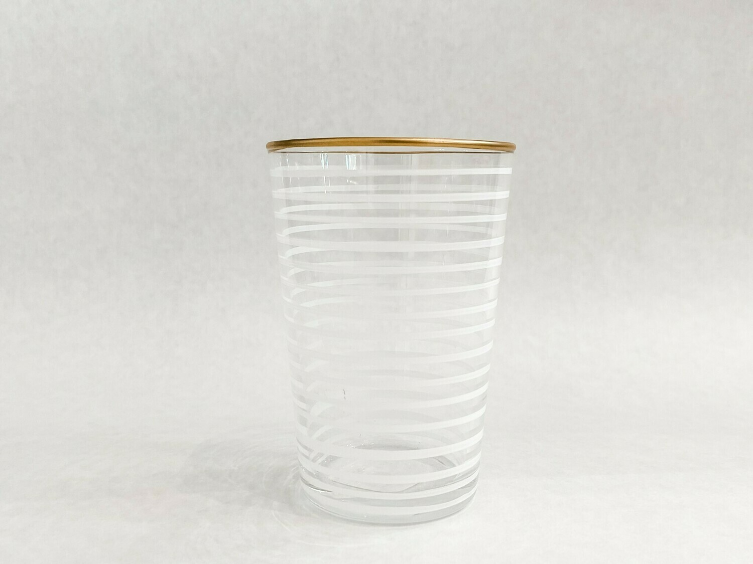 Tea Glass - Striped - White
