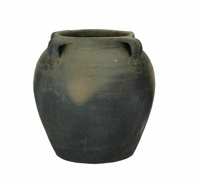 Black Water Pot with Handle