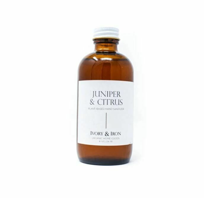 Organic Hand Sanitizer in Glass Bottle-Juniper and Citrus
