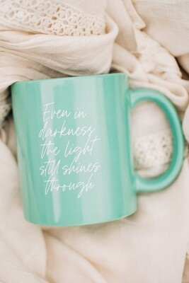SLIGHTLY IMPERFECT | The Light | TEAL Ceramic Mug