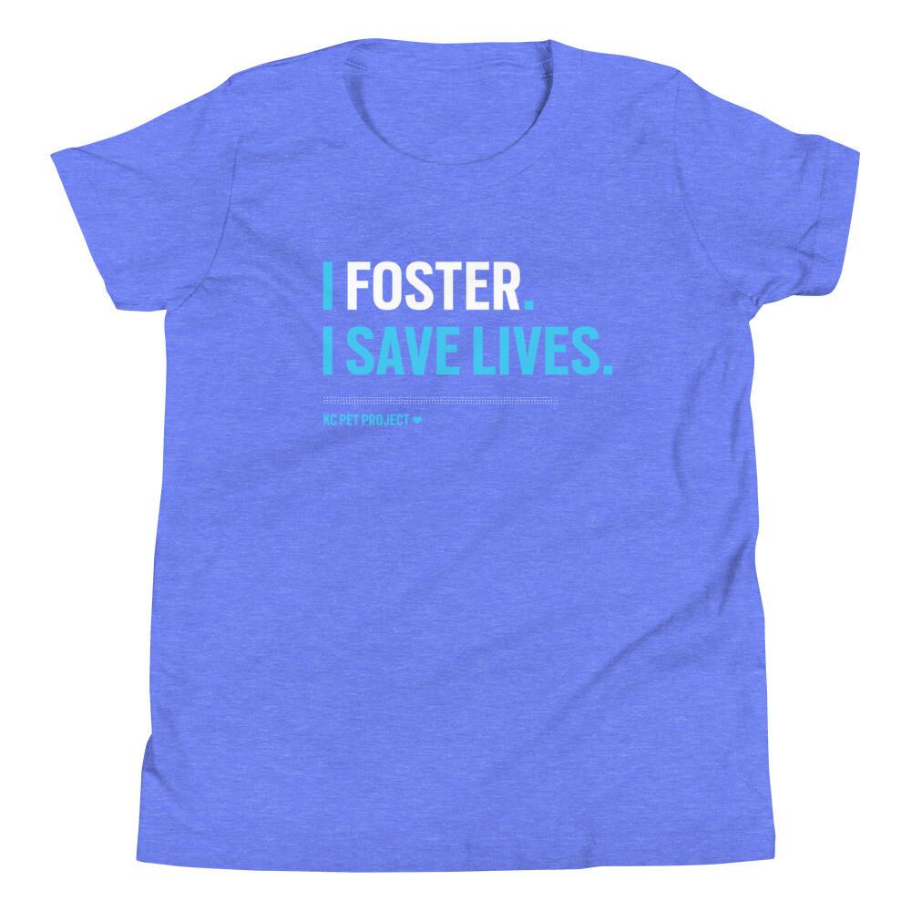 I Foster, I Save Lives - Youth T-shirt - Dark