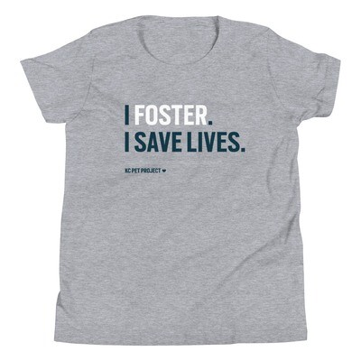 I Foster, I Save Lives - Youth T-shirt - Light