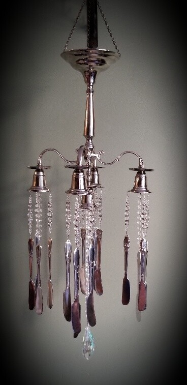 Large Silverplated Candelabra