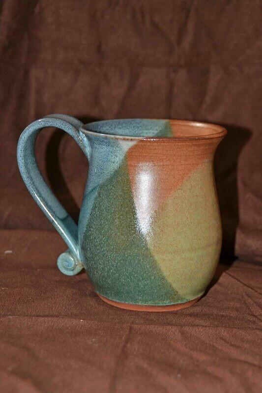 (SOLD) Multicolor Criss-Cross Mug