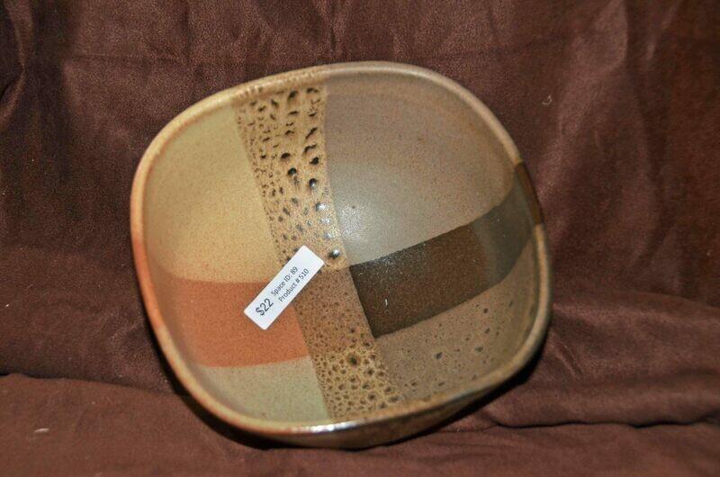 (SOLD) Square Plaid Bowl