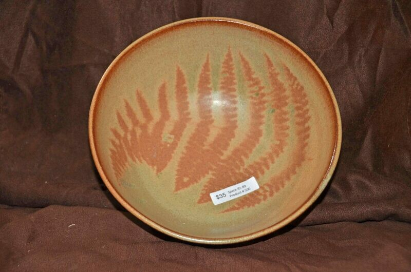 (SOLD)Fern Print Bowl