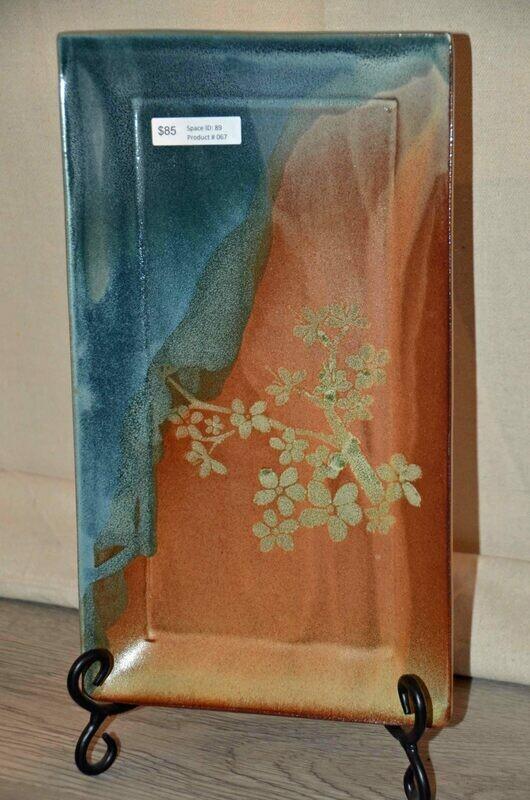 (SOLD)Rectangular Cherry Blossom Platter
