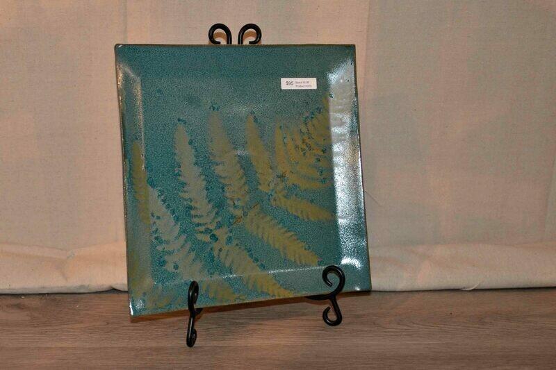 (SOLD) Square Fern Platter