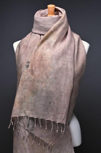 Handwoven, hand printed Silk Shawl