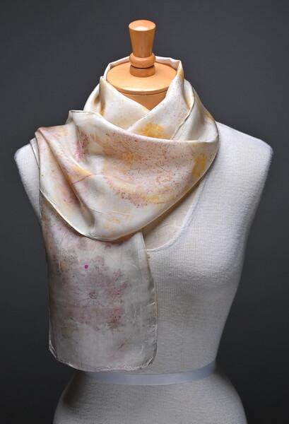 (SOLD)silk Habotai scarf