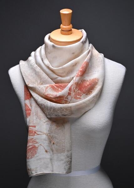 Crepe de chine silk scarf