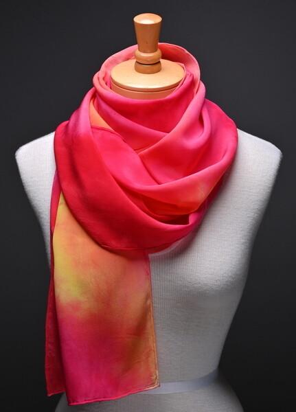 (SOLD)crepe de chine scarf