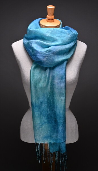 Mulberry silk handwoven shawl