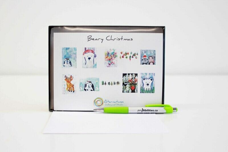 Beary Christmas Card Set