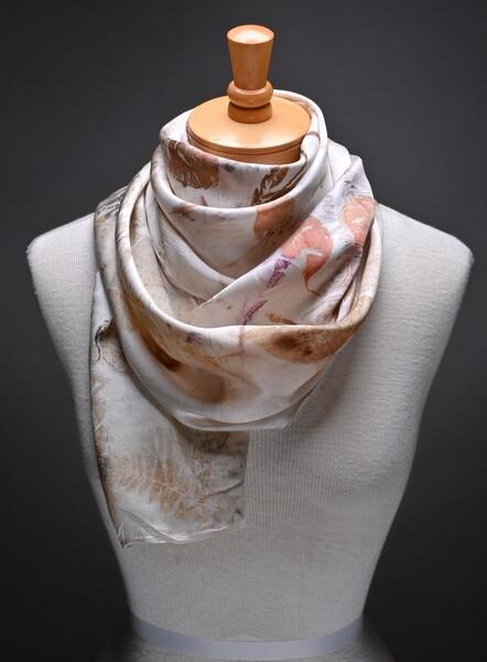 (SOLD)Silk satin scarf