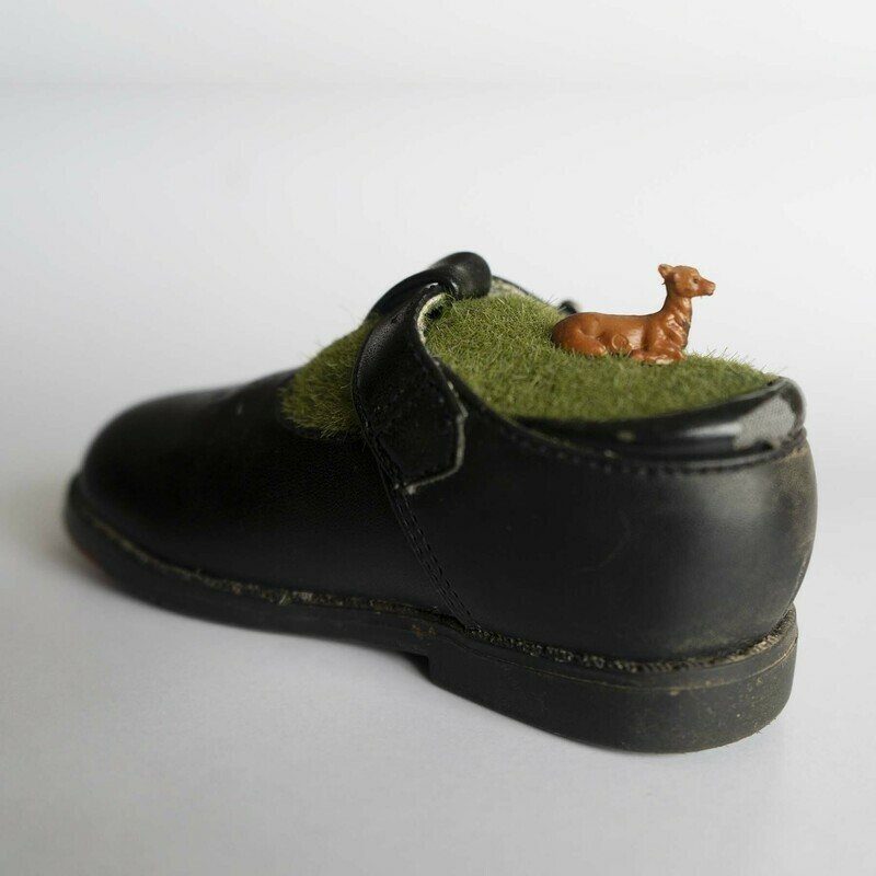 Diorama Child's Shoe with Deer