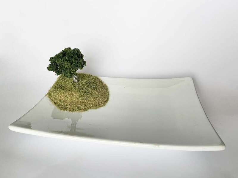 White Tray with Tree