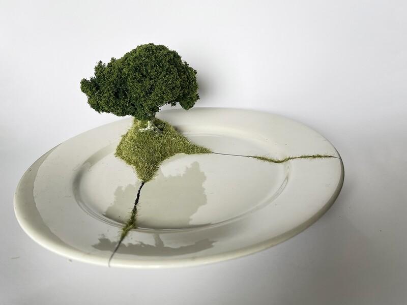 Grass Kintsugi Plate 02