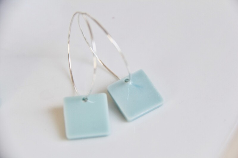 Square Hoops - Blue