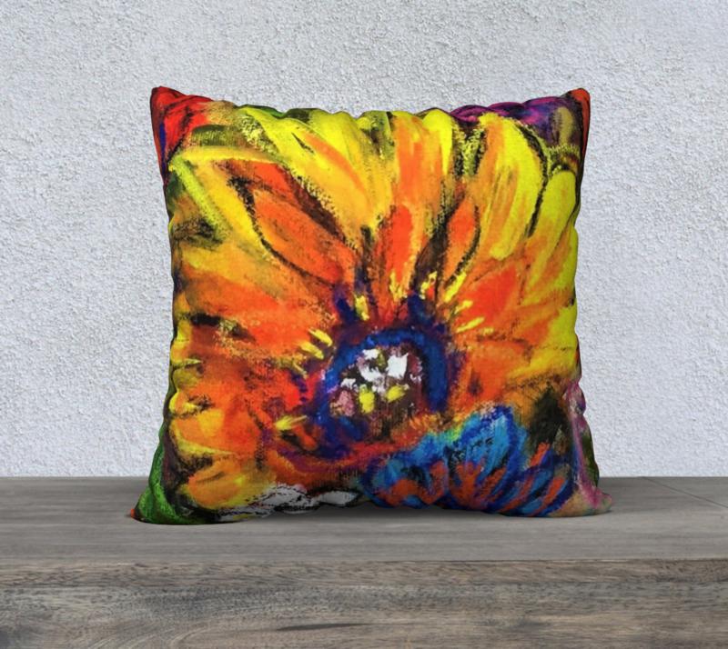 SINGLE GERBERA cushion cover