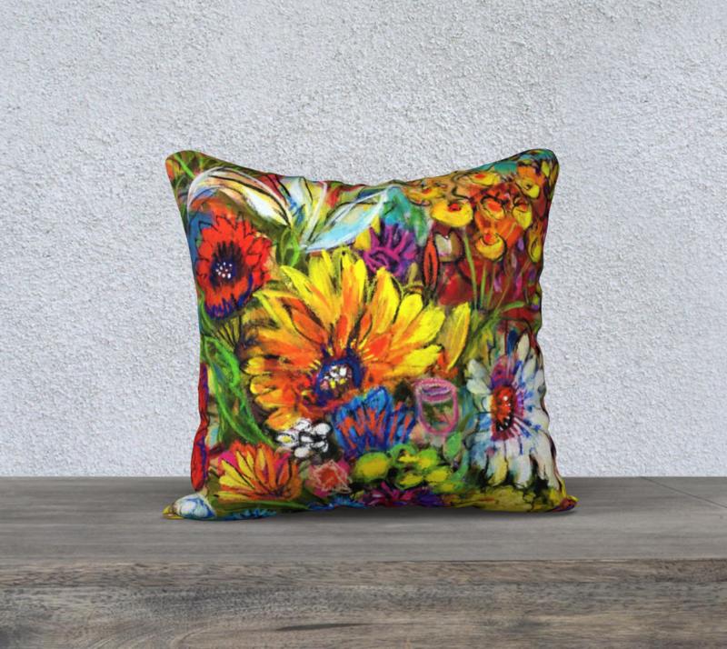 GERBERA BUNCH cushion cover