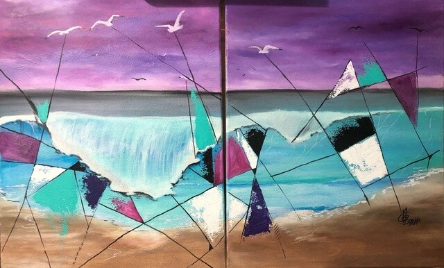 Wave X (Diptych)