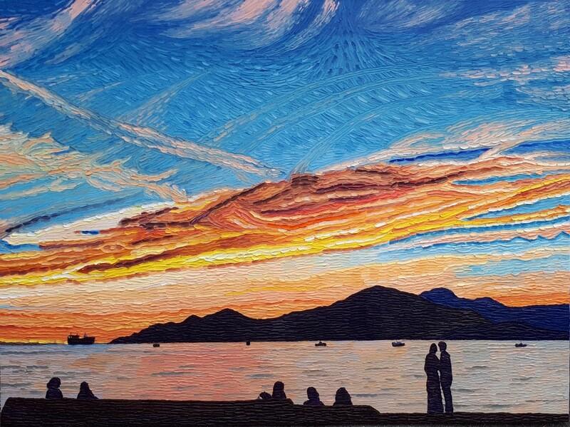 Sunset at Kits Beach