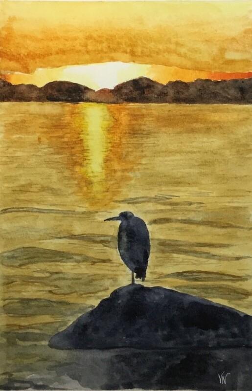 Heron Sunset
