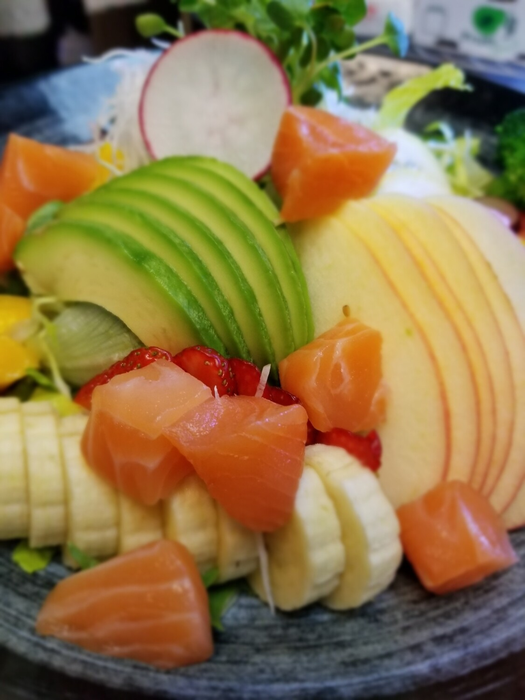 Salmon Gomae Salad