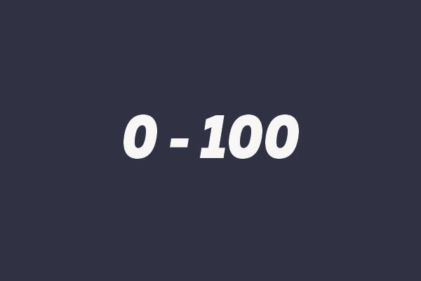 0 - 100