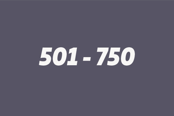 501 - 750