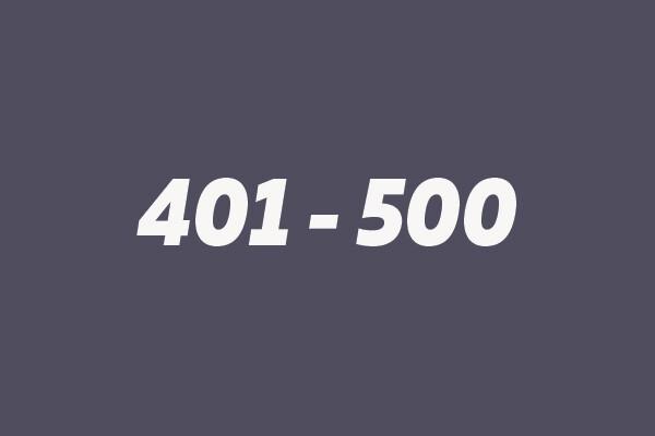 401 - 500