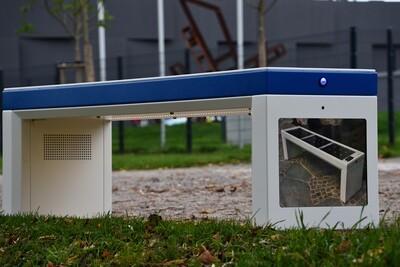 ibench© BASIC 3er Sitzbank weiss Smart Solar Bench MIETEN