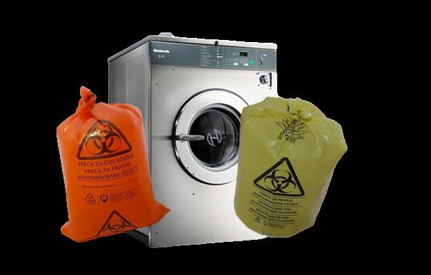 VUPLAST© BIO-HAZARD BAG Wäschebeutel für infizierte & kontaminierte Wäsche - recycelt & desinfiziert für 1'000 kg Wäsche