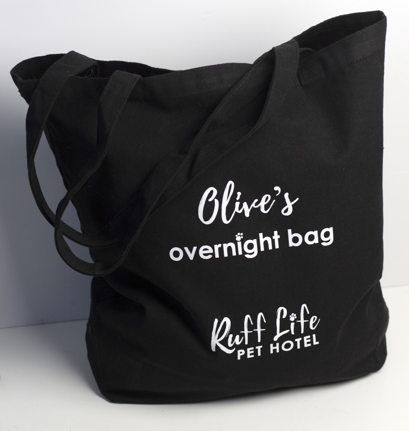 Customized with Name - Canvas Overnight Bag