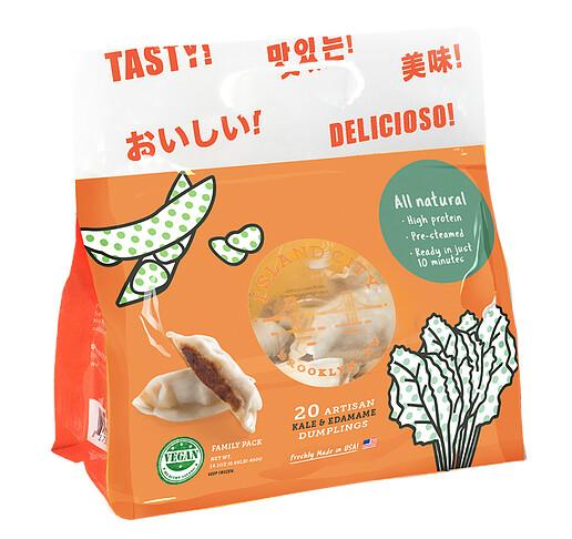 Kale and Edamame Vegan Dumplings / Potsticker