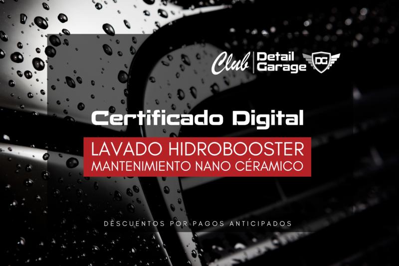 Lavado Hidrobooster - Certificado Digital