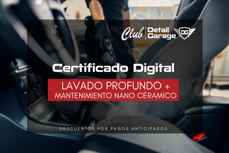 Lavado Profundo, Motor y Mantenimiento - Certificado Digital