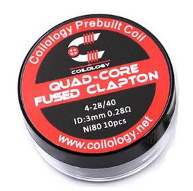 Coilology Quad Core Fused Clapton Pre Built Coils